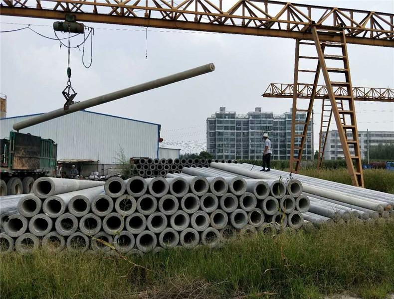 安徽蒙城15米190预应力电杆扶贫项目电网改造
