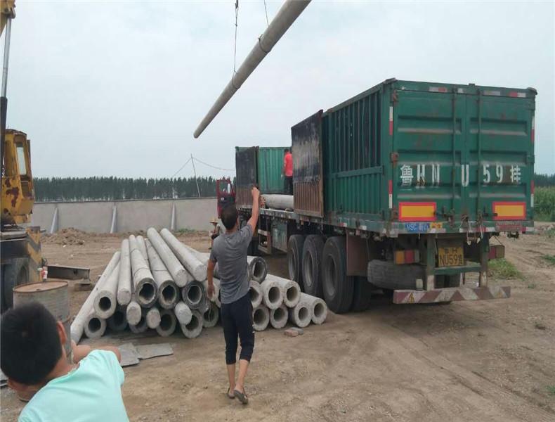 发湖北老河口工程项目部80根大十米线杆40地锚石