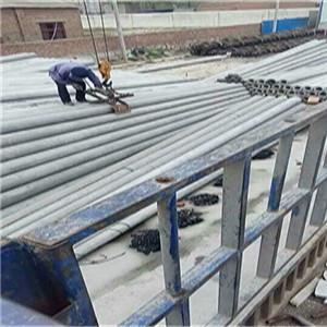 发往四川自贡富顺县450根7米110型防腐柚木杆订单圆满完成