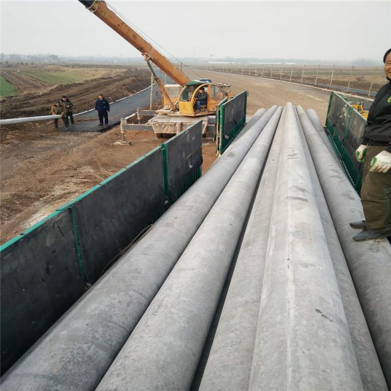 15米国标水泥电线杆已运达安徽凤阳客户给予电线杆照片反馈